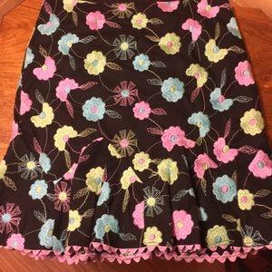 Nanette Lepore Embroidered skirt